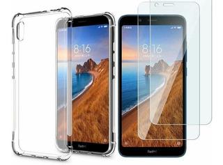 Capa Anti Queda Xiaomi Redmi 7a + Pelicula De Vidro Premium Envio Rapido