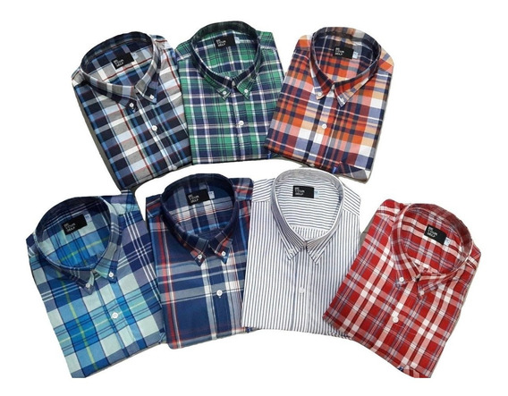Camisa Talle Especial Manga Corta Pack 2 Unidades 46-48-50-5