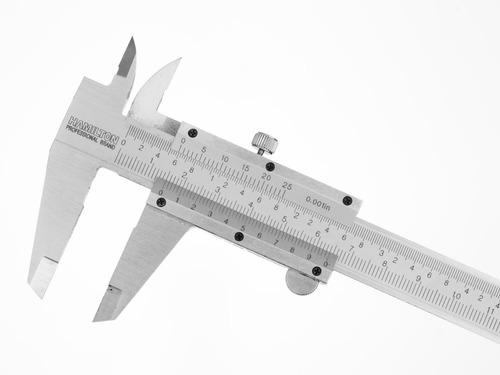Imagen 1 de 4 de Calibre Metalico 150mm Mm Y Pulgadas Hamilton