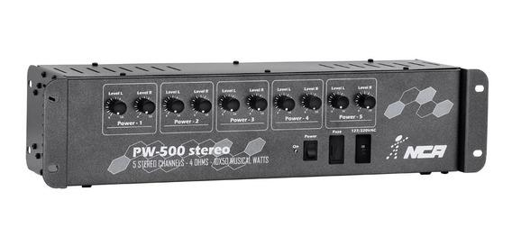 Amplificador Potência Profissional Som Ambiente Pw500 Stéreo