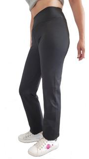 Calza Mujer Cintura Alta Recta Suplex Talles Especiales Tqc