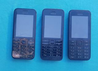 Lote Com 3 Celulares Nokia 208 E 220 (leia A Descrição)
