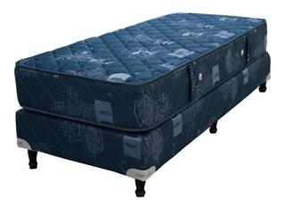 Sommier Maxiking Espejo de Luna 1 plaza 190x80cm azul
