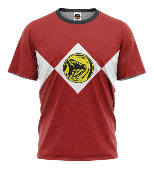 Camiseta Power Rangers Rock Vermelho Filme Camisa Blusa