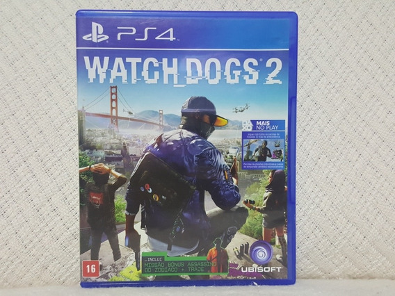 Jogo Ps4 Watch Dogs 2 Mídia Física Original