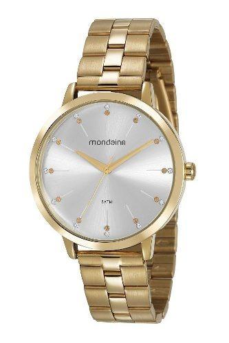 Relógio Mondaine Feminino Dourado 53659lpmvde1 Garantia E Nf