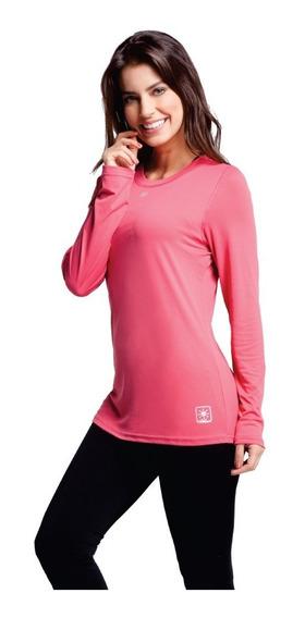 Camisa Segunda Pele Feminina Baby Look Proteção Uv 50 Kanxa