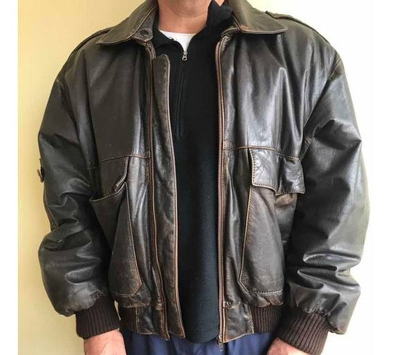 Jaqueta Vintage De Couro Legítimo Brooksfield 90s
