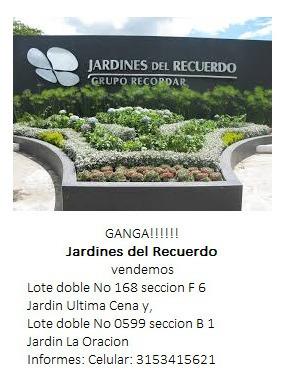 Lote Doble No 168 Seccion F 6 Jardin Ultima Cena