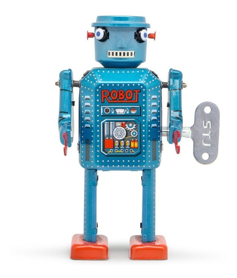 Robot A Cuerda De Hojalata Retro Tin Toy R-35 Gato