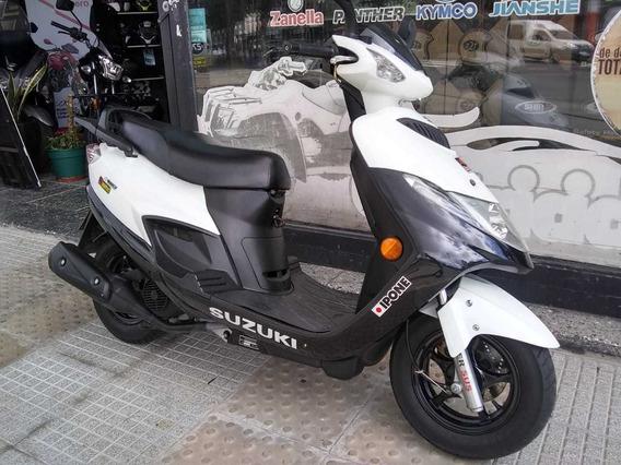 Suzuki An 125 2014 Como Nueva Motovega