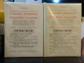 Diccionario Italiano-esp, Spagnolo-ita Dizionario 2 Tomos