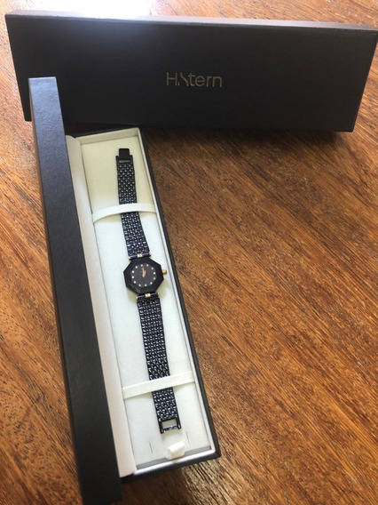 Relógio Hstern Safira Com 16 Diamantes. Impecável!