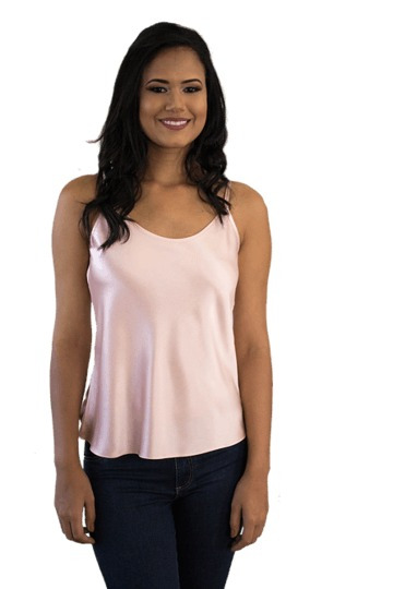 Camiseta Cetim Rosa Bebe