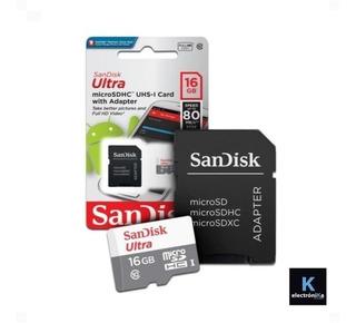Memoria 16 Gb 80m/s Sandisk