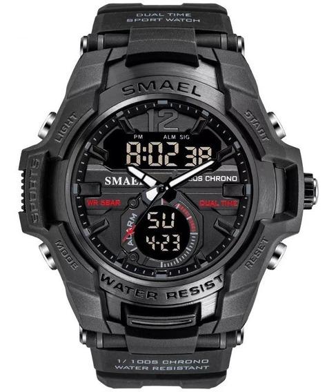 Relógio Smael 1805 (preto) Original