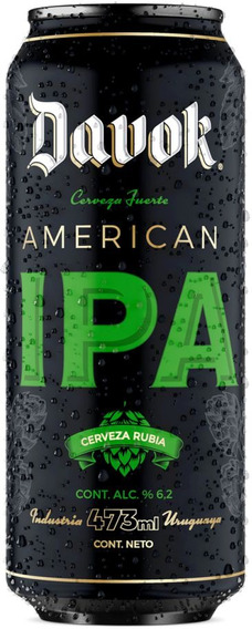 Cerveza Davok American Ipa Lata 500ml