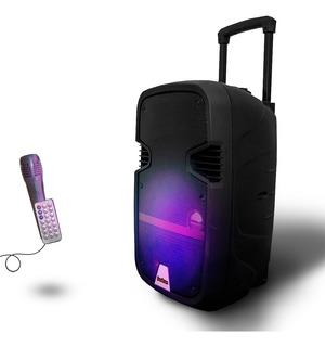 Parlante Portatil Bluetooth Karaoke Microfono Luz Inalambric
