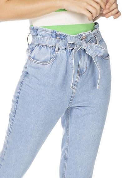 Calça Jeans Denim Zero Mom Clochard Com Cinto-dz3231