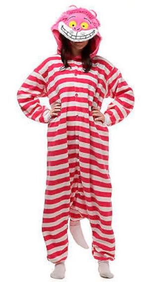 Pijama Mameluco Gato Alicia Sonriente Adulto Envío Gratis