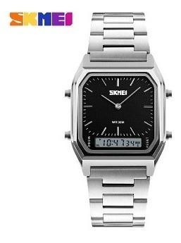 Relógio Skmei 1220 Retro Lançamento Luxo Masculino