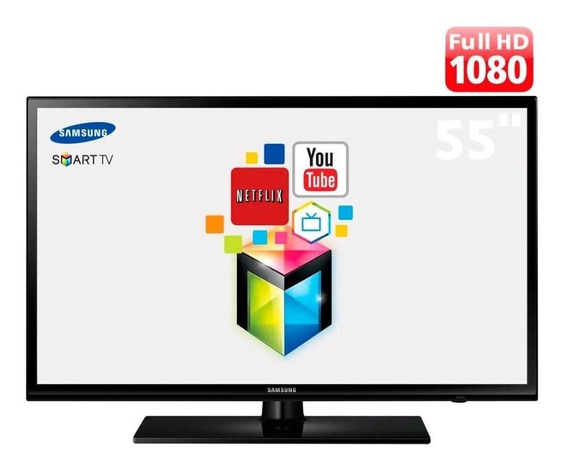 Smart Tv Led Samsung 55 Full Hd Entradas Hdmi E Usb E Wi-fi