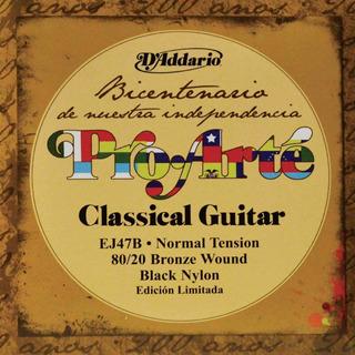 Juego De Cuerdas Guitarra Acustica Clasica Nylon Ej47b Daddario Pro Arte Clasica Promocion Envio Inmediato +