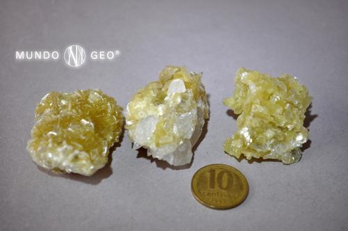 Piedra Mica Amarilla Nro. 1 Pieza De Colección