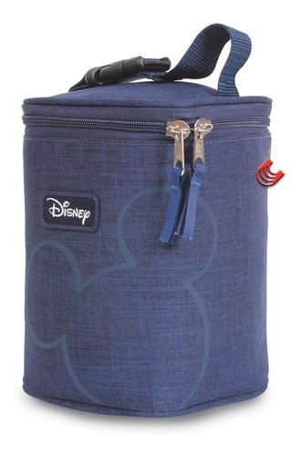 Imagem 1 de 5 de Bolsa Paternidade Porta Mamadeira Térmica Mickey Azul
