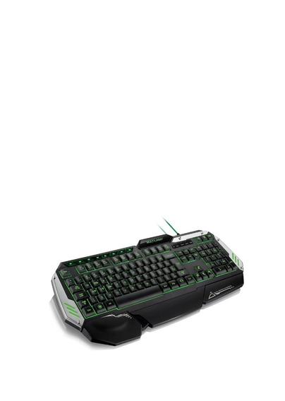 Teclado Gamer Preto, Verde Usb Iluminado Tc199 Multilaser
