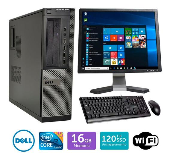 Pc Barato Dell Optiplex 9010int I3 16gb Ssd120 Mon19q Brinde