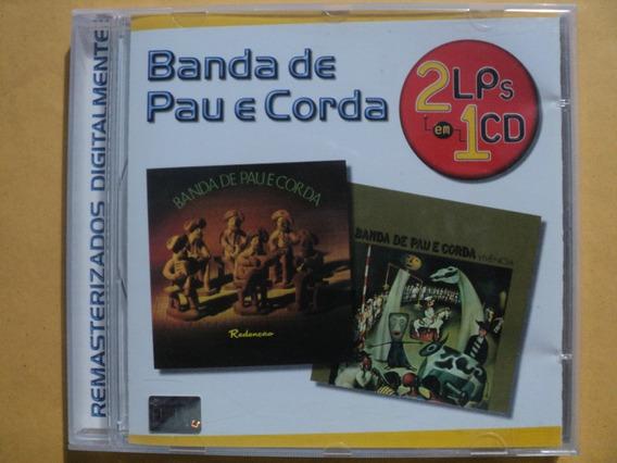 2 Lps Em 1 Cd Banda De Pau E Corda- 2001 Zerado- Frete 10,00