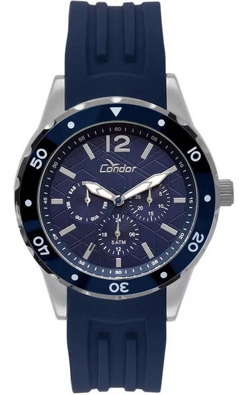 Relógio Condor Masculino Traveller Prata Co6p29is/3a