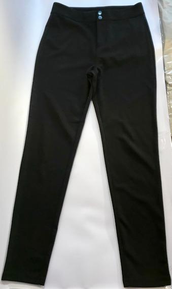 Pantalón Forever 21 Negro Chupín Como Nuevo Usa Elastizado