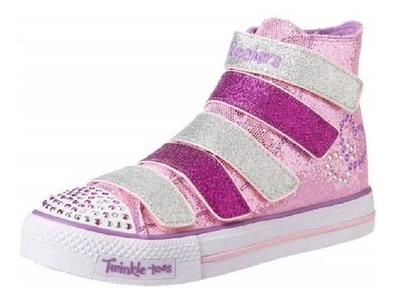 Tênis Infantil Skechers Twinkle Toes 5 Alive C/ Luz De Led