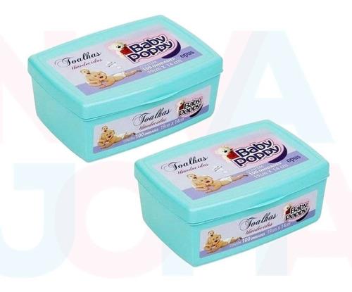 Toalhas Umedecidas Baby Poppy Premium 2 X 100