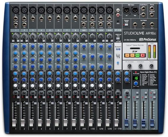 Presonus Studiolive Ar16c Mixer Interface Multipista Usb Sd