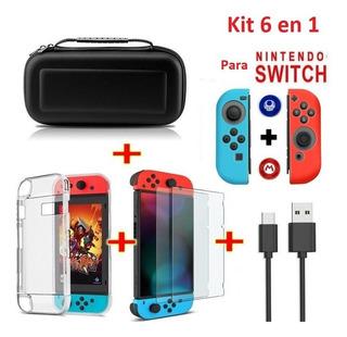 Kit De Accesorios Nintendo Switch Eastvita 6 En 1, Estuche