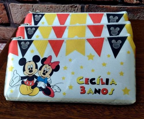 10 Bolsinha Necessaire Personalizada Lembrancinha Mickey