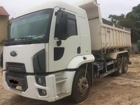 Caminhão Ford Cargo 2423/12, Branco, Caçamba, Cabinado