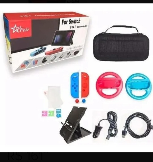 Kit 9 Em 1com Acessórios Para Nintendo Switch