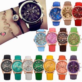 586e5afae2c0 10 Reloj Original Geneva Mujer Dama Piel Vinil Mayoreo Lote