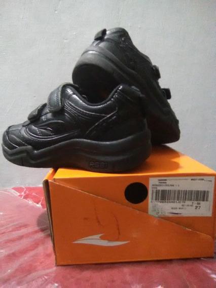 Zapatos Deportivos Escolar Rs21 N° 27 Color Negro Cierr Magi