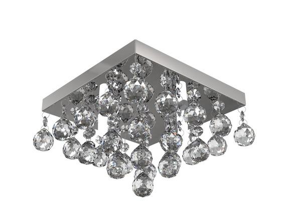 Plafon Lustre De Cristal 21cm Sala Hall Quarto Corredor 958