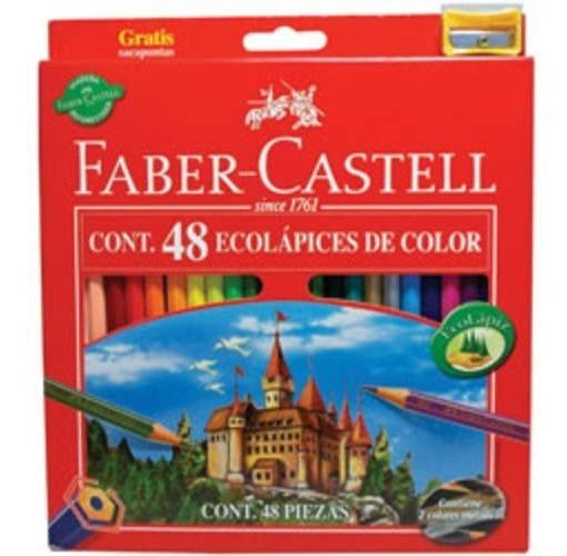 Lápices De Colores Faber Ecolápiz + Sacapuntas - Caja X 48