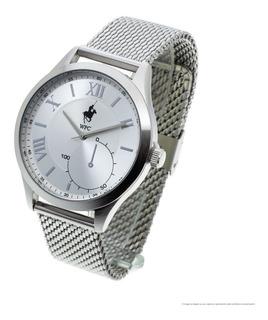 Reloj De Hombre Welington Polo Club Gad Malla Metal Analógico