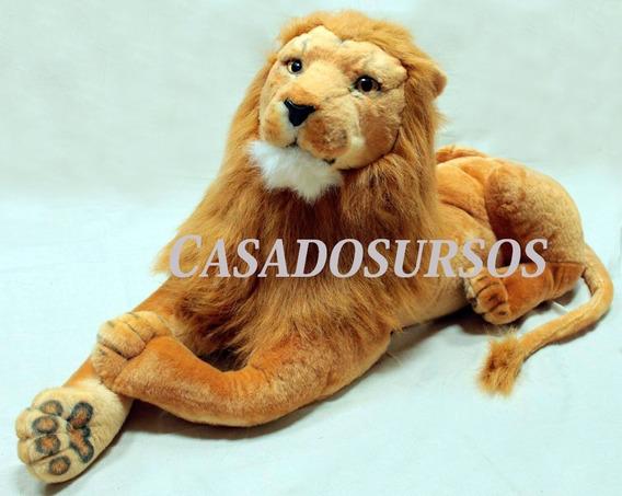 Leão Pelúcia Gigante 160cm 1,6 Mts Decoração Escritório Sala