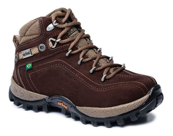 Bota Adventure Cano Alto Infantil Macboot Guarani 12 Café