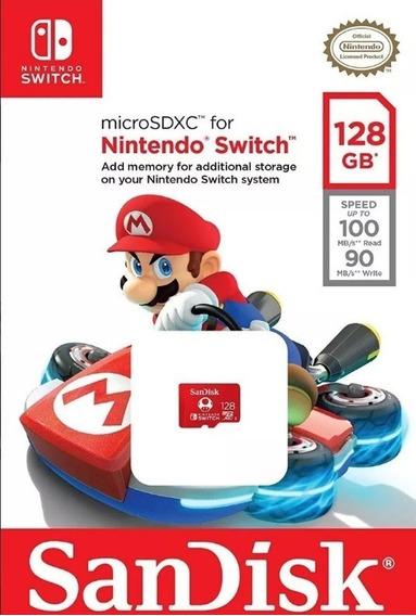 Cartão De Memória Sandisk Switch 128gb Realmente Original