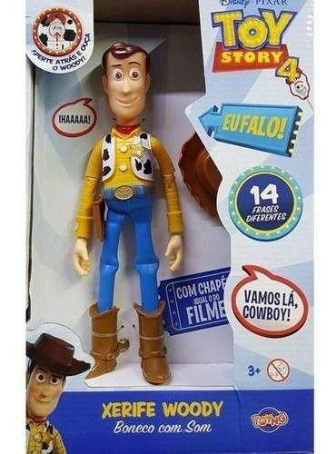 Boneco Woody Com Som 14 Frases Em Portugues Toy Story 4